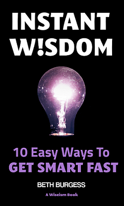 Front cover of Instant Wisdom self-help book